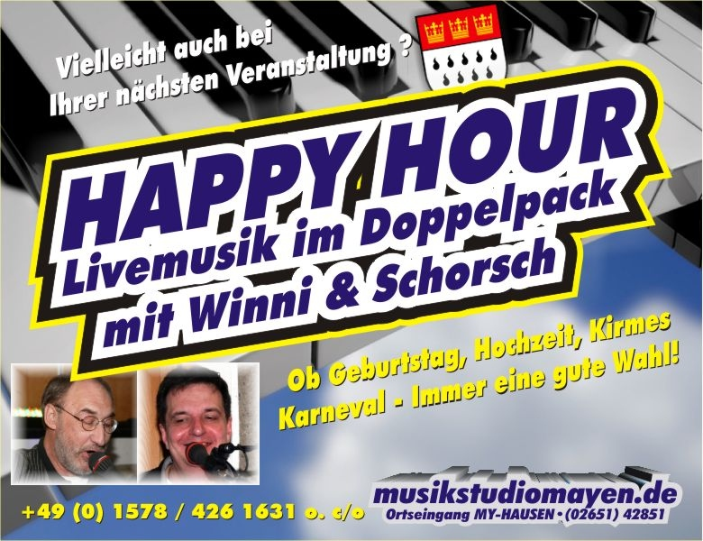 Happy Hour - Livemusik im Doppelpack!
