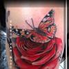 Tattoo Van Bosch,Tattoo by Neo Van Bosch, Van Bosch Tattoo Bodenmais, Christian Nachmüller Tattoo, Butterfly Tattoo, Rose Butterfly Tattoo, Van Bosch,