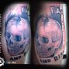 Tattoo by Neo Van Bosch, Van Bosch Tattoo Bodenmais, Skull Spider Tattoo,