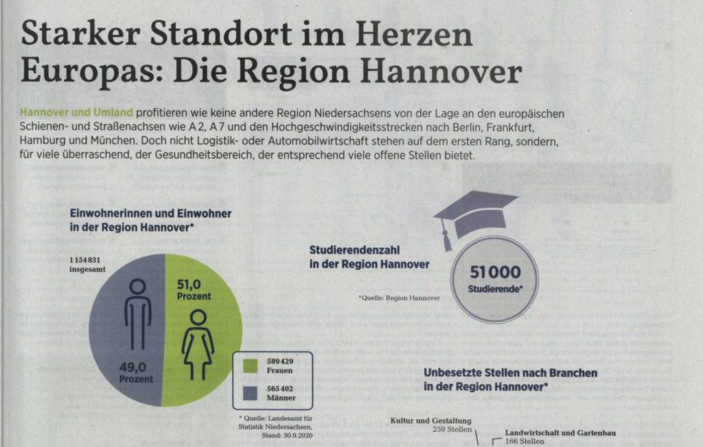 Auszug aus der hannoverschen allgemeinen Zeitung