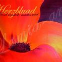 """Postkarte """"Herzbluad"""""""