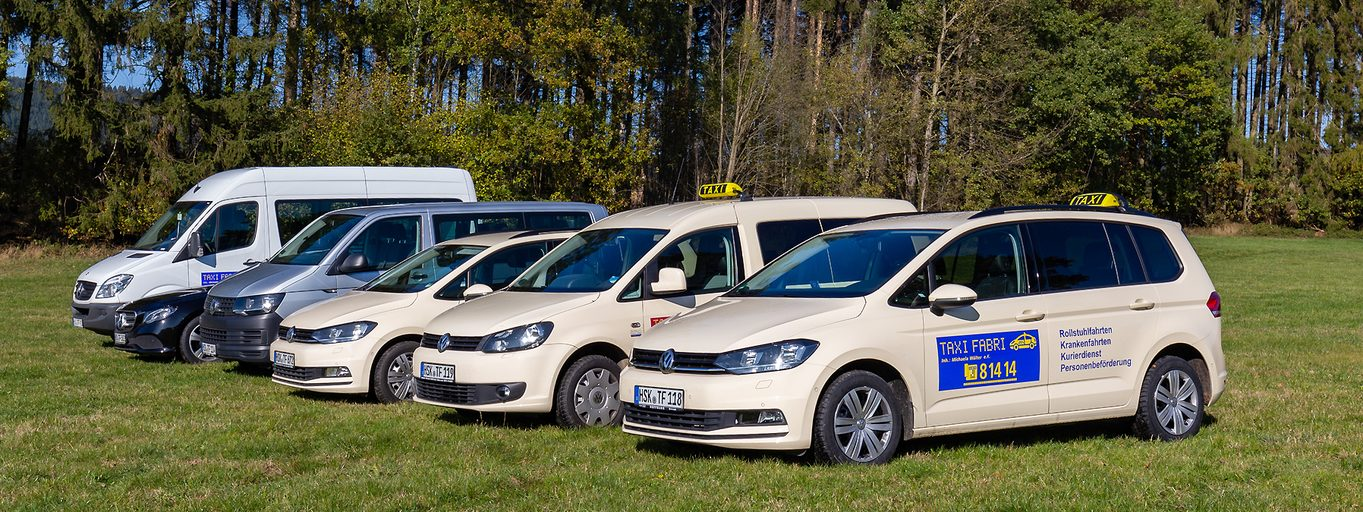Der Fuhrpark des Taxiunternehmens Fabri in Eslohe