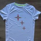 Rising star_soft grip print, Sportshirt Bird-Eyelet-Mesh, Active dry