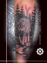 Tattoo van Bosch, Van Bosch Tattoo Bodenmais, Tattoo Bayerischer Wald, Bayerwald Tattoo, Wolf Tattoo, Wald Tattoo, Bayrischer Wald Tattoo,