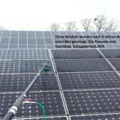 Solardachreinigung (vorher - nachher)