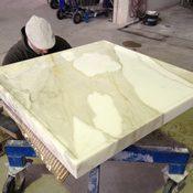 Privat - Duschtasse Marmor Calacatta Vagli Oberfläche feingeschliffen