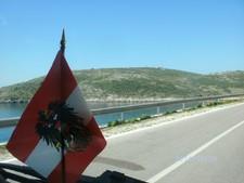Albanien-Reisen. Radtour in Süd albanische Riviera.