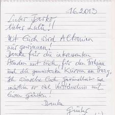Günter Krause. Gast aus Viktring, Mai 2013