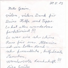 Claudia u. Franz Kluiber, Gäste aus Spigelau, Bayerischer -Wald, Juni 2013