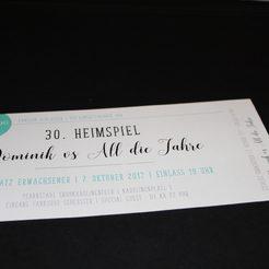Einladungskarte 30ger Geburtstag