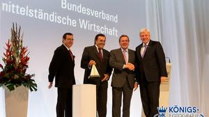 BVMW Mediapreisverleihung an Altkanzler Gerhard Schröder