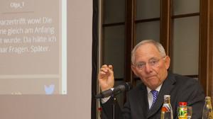 Wolfgang Schäuble bei Schwarzer trifft im Mercure Hotel