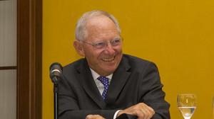 Wolfgang Schäuble CDU bei Schwarzer trifft im Mercure Hotel