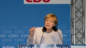 die Kanzlerin Angela Merkel unterstützt den Spitzenkandidaten Frank Henkel 14.09.2016