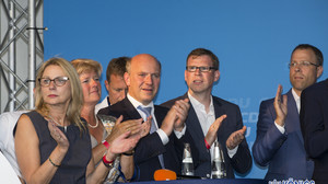 Wahlkampfabschluß Kranoldplatz 14.09.2016 Kai Wegner Florian Graf Monika Grütters Thomas Heilmann