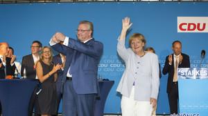 Wahlkampfabschluß mit Kanzlerin Angela Merkel Kranoldplatz, Berlin 14.09.2016