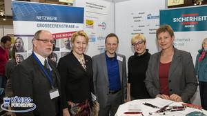 Jobbörse 2017 NG Großbeerenstraße e.V. Dr.Thomas Nittka Franziska Giffey Guido Monreal Marcia Behrens Elke Breitenbach