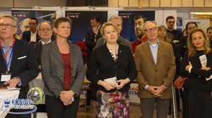 Jobbörse 2017 Eröffnung mit Elke Breitenbach Franziska Giffey und Ekkehard Streletzki