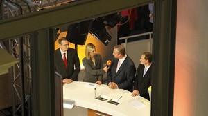 ARD ZDF Wahlstudio im Abgeordnetenhaus Berlin 2011