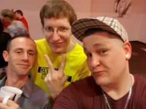 mit Alfi Hardcore&unseren Techniker Sven & DJ Guido