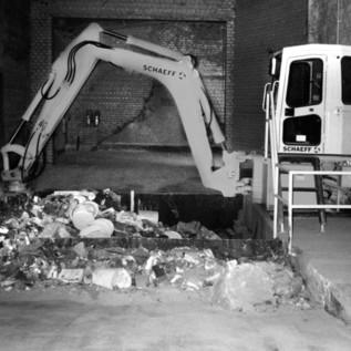 Die Sortieranlage der BTB Recyclinghof GmbH sortiert pro Jahr ca. 100.000 m3 Baumischabfälle.