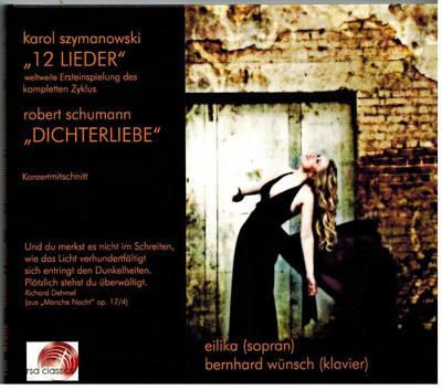 """CD Karol Szymanowski """"12 Lieder"""" / Robert Schumann """"Dichterliebe"""""""