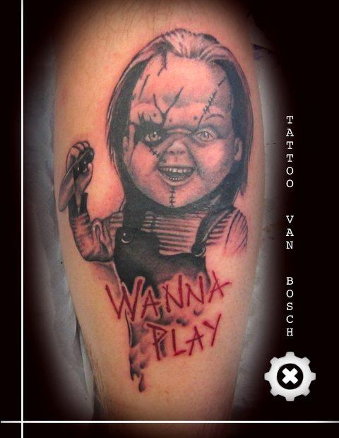 Chucky wanna play Tattoo, Horror Tattoo, Tattoo van Bosch, Van Bosch Tattoo Bodenmais, Tattoo Bayerischer Wald, Bayerwald Tattoo, Tattoo Bodenmais, Tattoo Zwiesel, Tattoo Regen, Bayrischer Wald Tattoo, Neo Van Bosch, chuckyWanna play