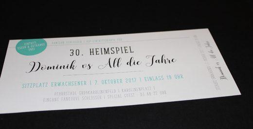 Einladung zum 30. Geburtstag