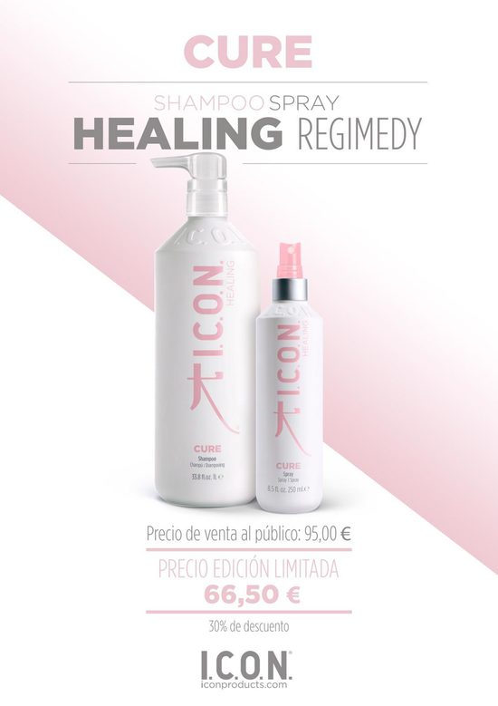 Icon Cure Champú Spray Healing Regimedy