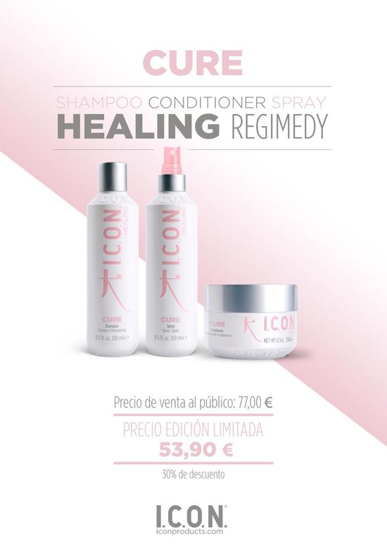 Icon Cure Champú Acondicionador Spray Healing Regimedy