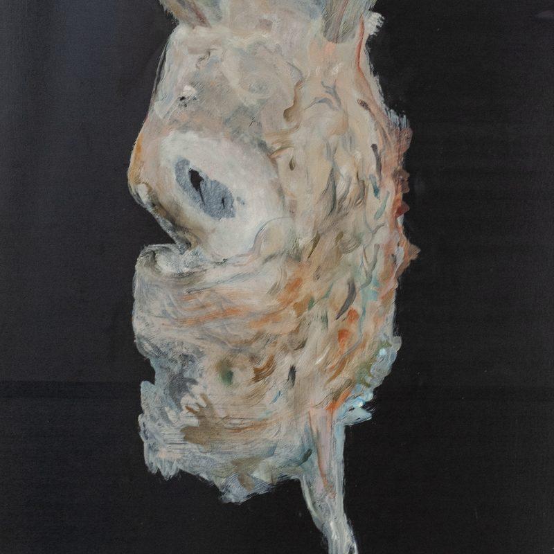 """54,7 x 40, Öl/Holz, """"Wesen"""", 2019"""