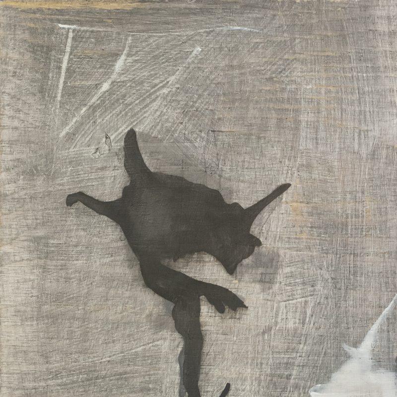 "30 x 24, Öl/Holz, ""falling angel"", 2019"