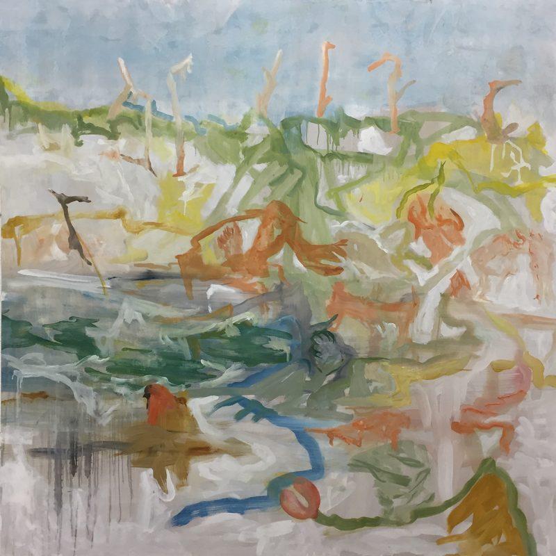 """140 x1 40 - Oil/MdF - """"drole de vie"""""""