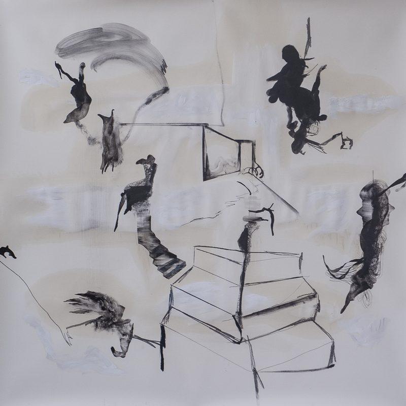 "140 x 140, Mischtechnik/Papier, ""admiration"", 2019"