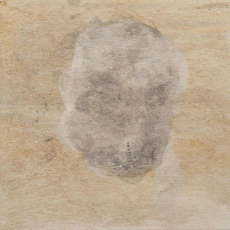 "27,8x28x4, Mischtechnik_Holz, ""head"", 2019"