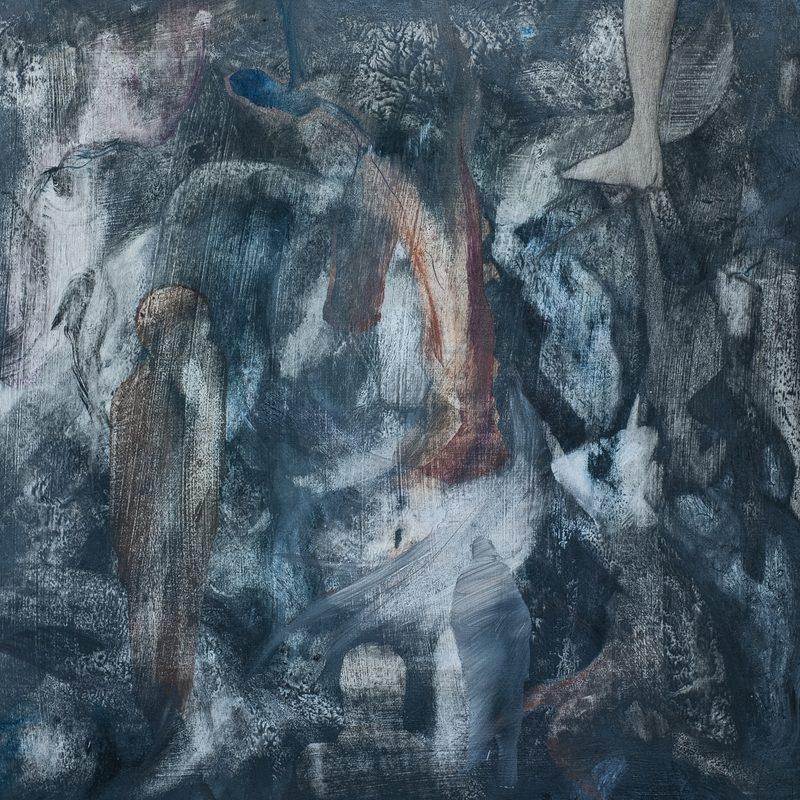 """40 x 40, Öl/Holz, """"hommage à J.L.Gogard"""", 2019"""