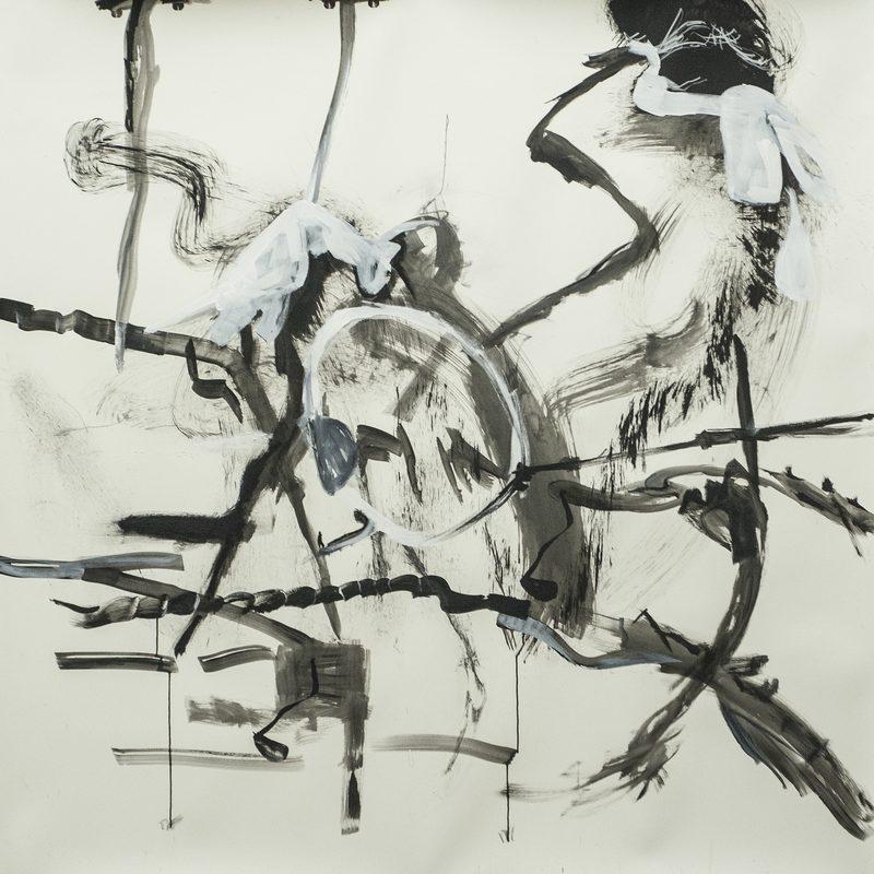 "140 x 140 Mischtechnik/Papier - ""Brille"", 2016"