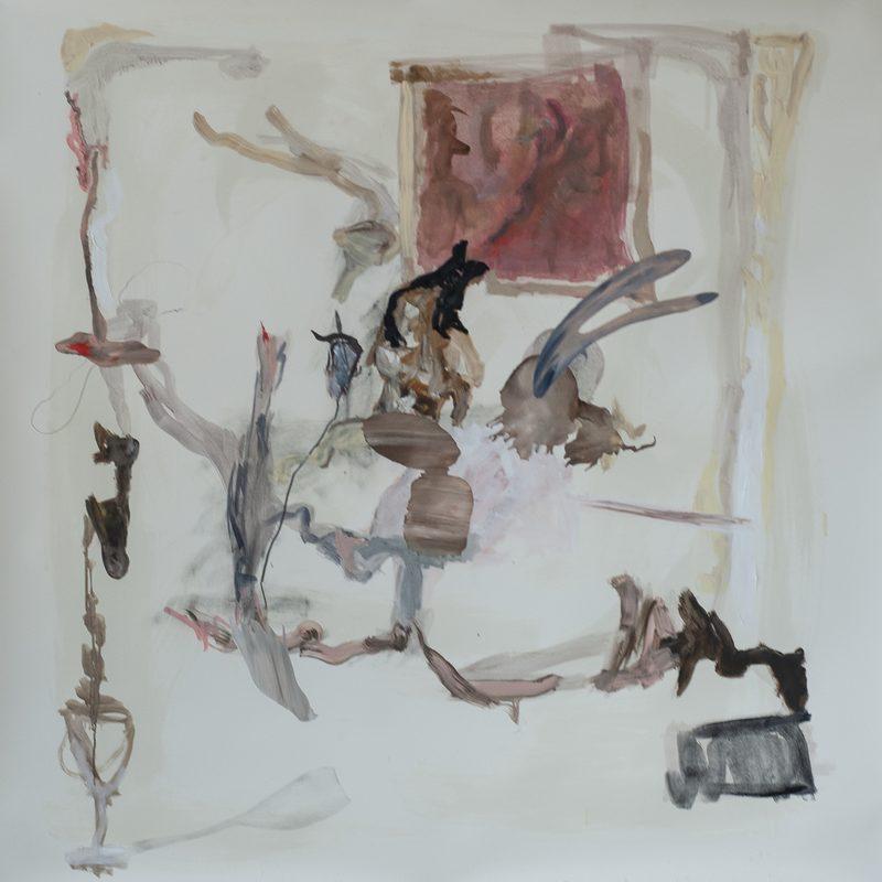 """140 x 140 Mischtechnik/Papier - """"blasses Licht auf bleiches Leben"""", 2018"""