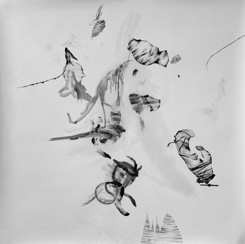 """150x150., Mischtechnik/Papier, , """"libre Idiotie"""", 2020"""
