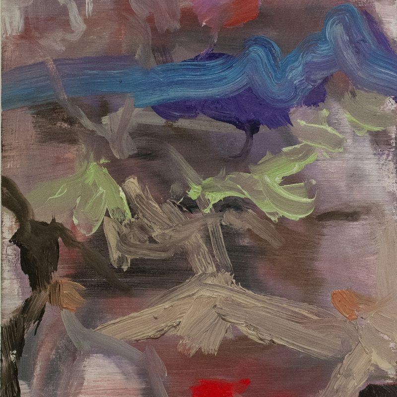 "21 x 15  - Öl/Holz - ""Herold"" , 2018"