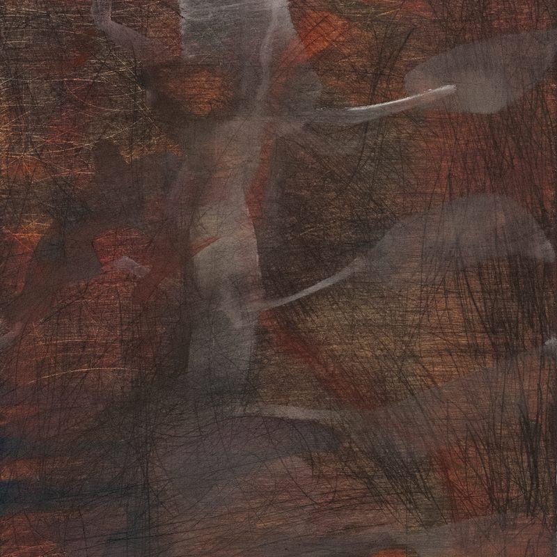 "21 x 15  - Öl/Holz - ""skelletieren"", 2018"