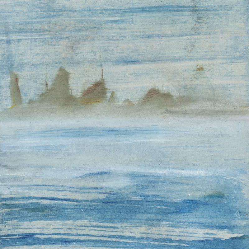 """21x15, Öl/Holz, """"brume"""", 2019"""