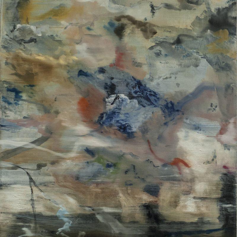 """48 x 40 - Oil/Holz - """"Weltform"""""""