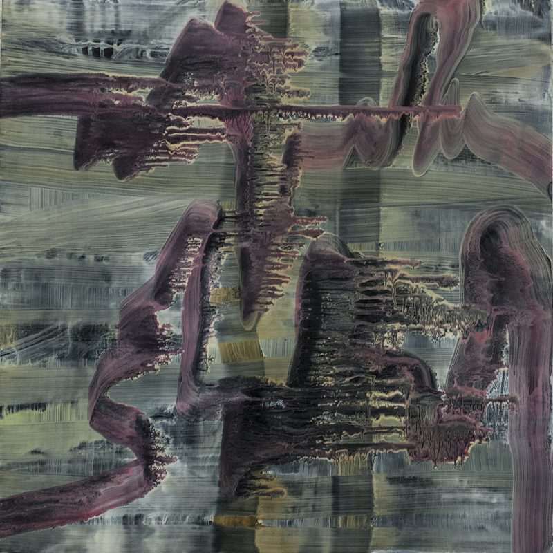 "40 x 40 - Oil/Holz - ""richtern"""