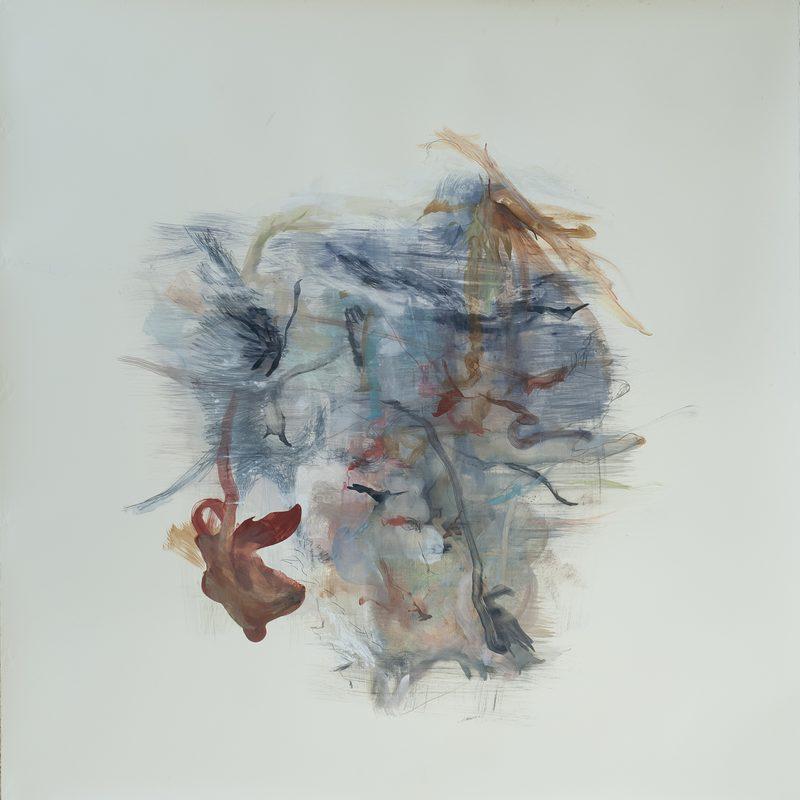 """140 x 140 Mischtechnik/Papier - """"paysage"""", 2018"""
