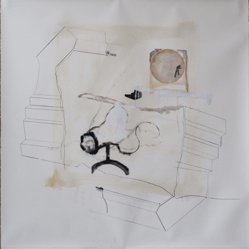"140 x 140 Mischtechnik/Papier - ""Trepp auf Trepp ab"", 2018"