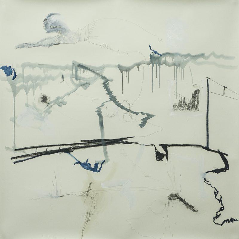 """140 x 140 Mischtechnik/Papier - """"paysage"""" ( japonais), 2016"""
