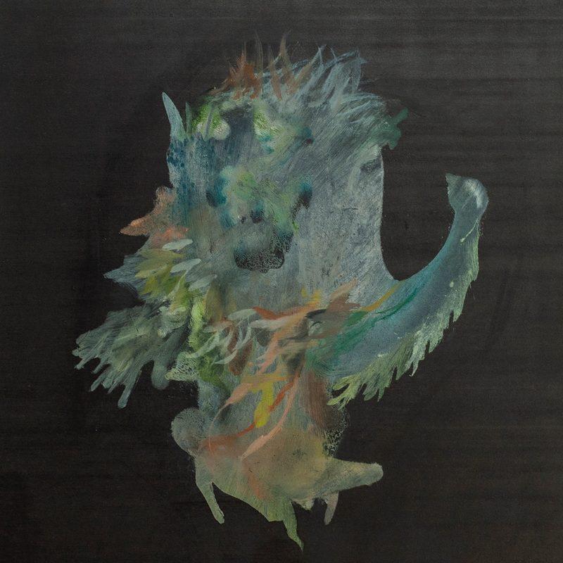"""29x25,Öl/Holz, """"nous sommes hysterique"""", (3.Triptychon), 2020"""