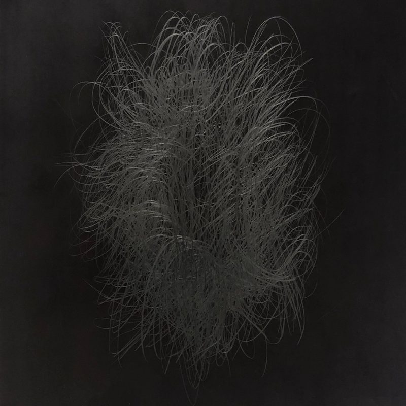 "39 x 34, Mischtechnik/Holz, ""Éclore"", 2019"