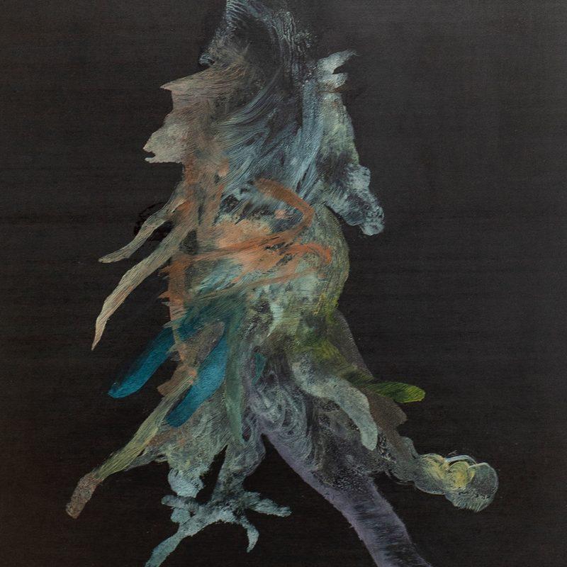 """Triptychon , 29x25, Öl/Holz, """"nous sommes hysterique"""", (1.Tryptychon), 2020"""